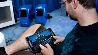 Die Bilder des Tablets stammen vom Server im Hintergrund.