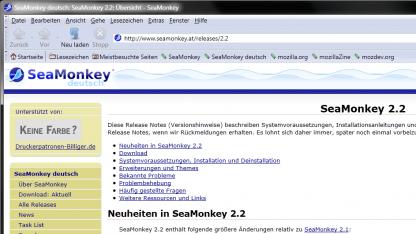 Seamonkey 2.2 ist da.
