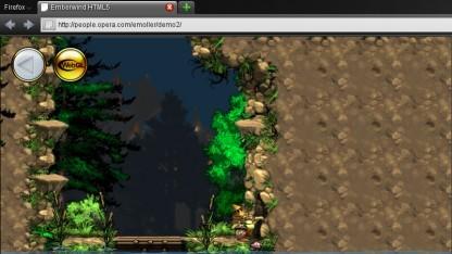 Screenshot der Emberwind-Demo mit Firefox 4.0 und WebGL