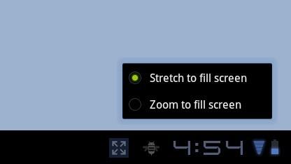 Zoomfunktion für Smartphone-Anwendungen in Android 3.2