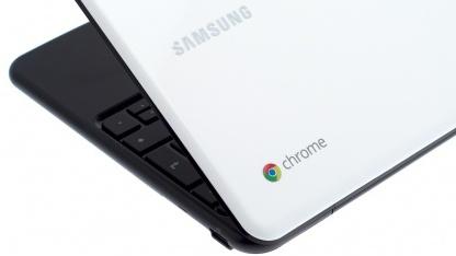 Samsungs Chromebook hat ein Google-Logo