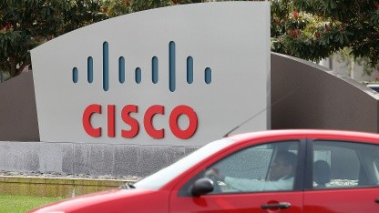 Am Cisco-Hauptsitz in San Jose, Kalifornien