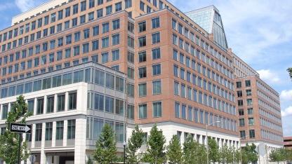 Teil des US-Patentamtes in Alexandria, Virginia. In den USA existieren Softwarepatente bereits.
