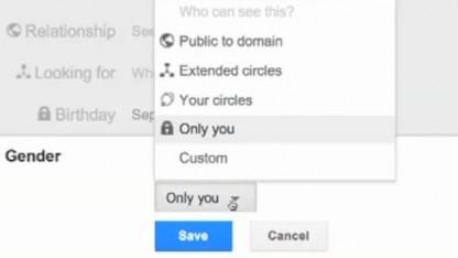 Im Google+-Profil kann bald das Geschlecht verborgen werden.