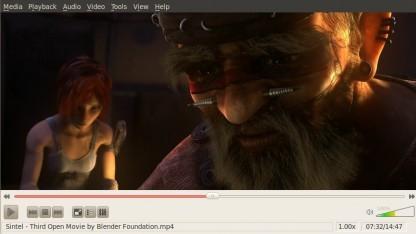 Der Film Sintel der Blender Foundation im VLC-Player