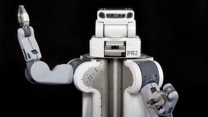 PR2 von Willow Garage: Roboter sollen sich künftig über das Internet weiterbilden.