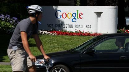 An der Google-Konzernzentrale