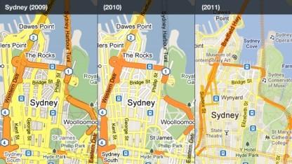 Google Maps: Veränderungen zwischen 2009 und 2011