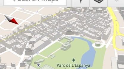 Barcelona mit 3D-Gebäuden in Google Maps