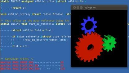 Quellcode und Glxgears aus dem Mesa-Projekt