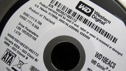 Western-Digital-Festplatte, fotografiert im April 2011