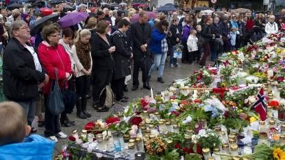 Schweigeminute in Bergen für die Opfer der Attentate