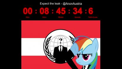 Anonymous' Countdown für die GIS