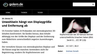 Mobile Version von Golem.de auf dem iPad