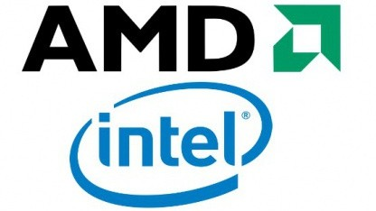 Logos von Intel und AMD