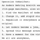 Operation Unmanifest: Anonymous knöpft sich norwegischen Attentäter vor