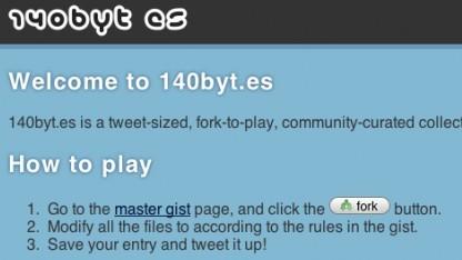140byt.es - überarbeitete Projekt-Homepage