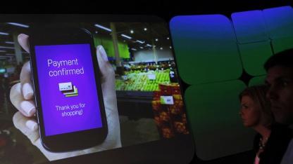 Google-Wallet-Vorführung in New York im Mai 2011.