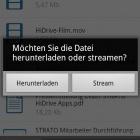 Onlinespeicher: Stratos Hidrive-App für Android unterstützt Streaming
