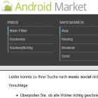 Android Market: Googles Suche versagt seit einem Monat