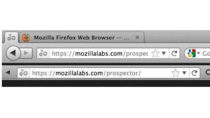 Firefox mit Oneliner (unten) und ohne (oben)