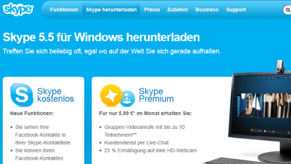 Skype für Windows nutzt VP8.