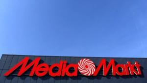 Logo auf einem Media Markt in Düsseldorf