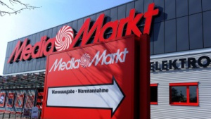 Warenannahme beim Media Markt in Düsseldorf