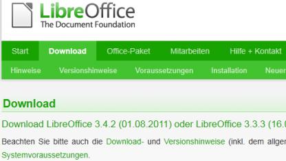 Libreoffice 3.4.2 ist da.