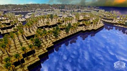 3D-Insel auf einem Quadratkilometer
