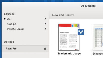 Gnome Documents indiziert Dokumente lokal oder im Web.