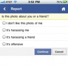 Facebook: Unerwünschte Fotos auch mit dem Handy melden