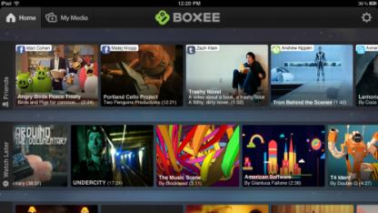 Boxee für iPad empfängt Videos vom PC oder Mac.