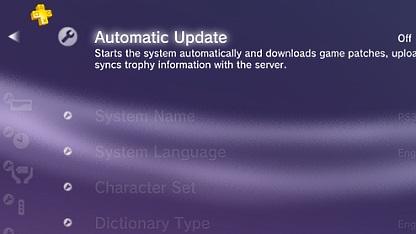 Auto-Upate in PSN Plus