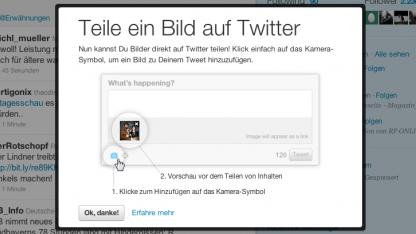 Twitter integriert nun Foto-Sharing.