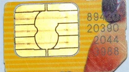 Eine herkömmliche SIM