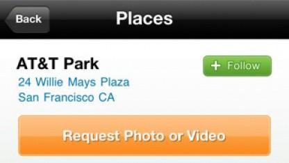 Benutzer können von beliebigen Orten in den USA Bilder anfordern.