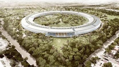 Neuer Apple-Campus aus der Vogelperspektive