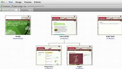 Strukturentwicklung in Adobe Muse