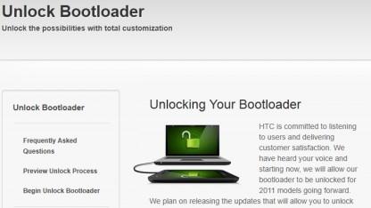 Bootloader-Entsperrer für HTCs Sensation