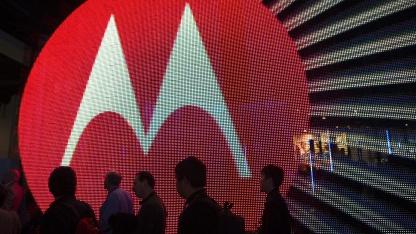 Motorola-Messestand auf der International Consumer Electronics Show (CES) in Las Vegas 2011