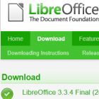 Document Foundation: Libreoffice 3.3.4 mit Fehlerkorrekturen