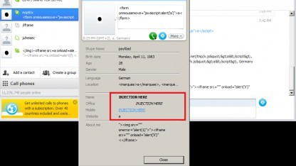 Demonstration der Sicherheitslücke in Skype