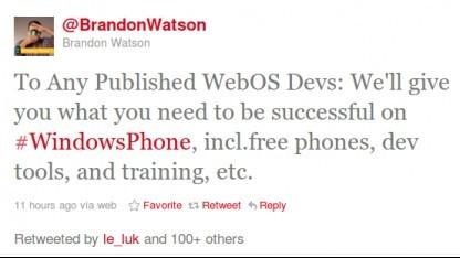 Microsoft umwirbt WebOS-Entwickler.