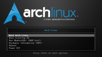 Arch Linux mit neuen Installationsmedien