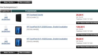 Keine WebOS-Geräte mehr HP Online Store
