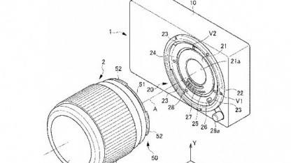 Objektiv an Systemkamera von Nikon