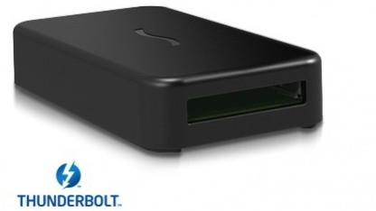Thunderbolt-Adapter nimmt verschiedene Expresscards auf.