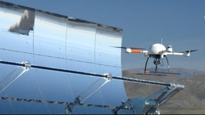 Heiße Sache: Drohne prüft Parabolspiegel