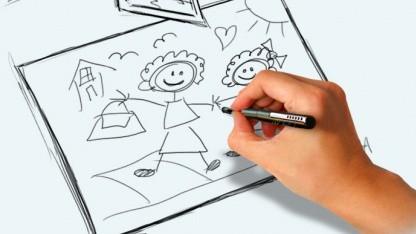 Der Anwender kann mit dem Apen A3 auf normalem Papier schreiben.